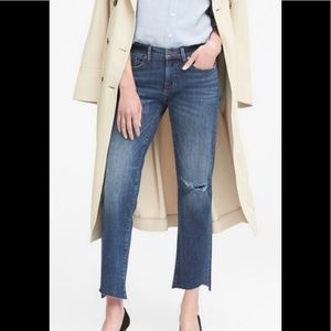 Banana Republic Girlfriend Raw edge distressed